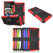 Hybrid Armor Rugged Hard Case Cover Stand Skin For HTC Desire 610