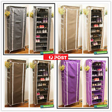 5 Color 9 Tier Portable Storage Shoe Rack Cabinet Holder Wardrobe Organiser
