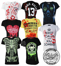 DARKSIDE CLOTHING  ZOMBIE T SHIRTS ZOMBIE KILLER TEE WOMENS ZOMBIE CLOTHING