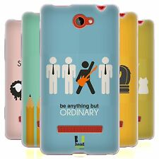 HEAD CASE BE DIFFERENT SILICONE GEL CASE FOR HTC WINDOWS PHONE 8S