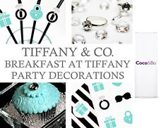 Coco&Bo Breakfast at Tiffany's Teal & Black Party Table Decorations All in One