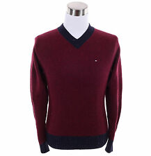 Tommy Hilfiger Men Classic V-Neck Long Sleeve Wool Sweater - Free $0 Shipping