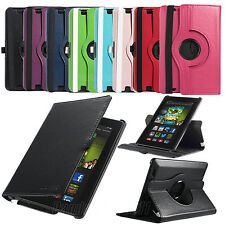 """Rotating PU Leather Smart Case Cover For Amazon Kindle Fire HD 7"""" 2nd Gen 2013"""