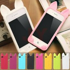 3D Cute Cartoon Cat Ear Soft Silicone Case Cover For iPhone 6 6S Plus 4S 5S 5C