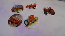 Pre Cut One Inch Bottle Cap Images!  Red Tractor #2 Free Shipping