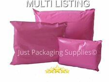 PINK PLASTIC MAILING BAGS SELF SEAL MAIL SACKS - all sizes