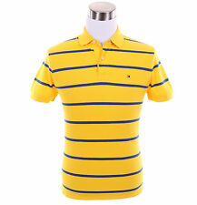 Tommy Hilfiger Men Short Sleeve Stripe Custom Fit Pique Polo Shirt -$0 Free Ship