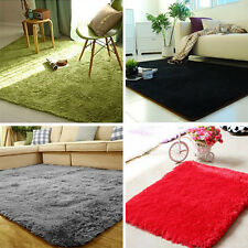 New Fluffy Anti-skid Shaggy Area Rug Dining room Carpet Comfy Bedroom Floor Mat