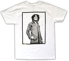 "BOB MARLEY ""RASTA BAR"" WHITE T-SHIRT NEW OFFICIAL ADULT PHOTO PORTRAIT"