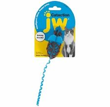 JW Pet Cataction MOUSE w/ Curly Tail Catnip Plush Cat Toy COLORS VARY