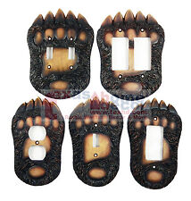 Bear Switch Plate Covers Claw Paw Cabin Lodge Decor Outlet Rockers Double Single