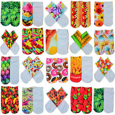 1 Pair Fashion Men Women Casual Low Cut Ankle Socks Cotton 3D Printed Animals