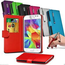 Leather Wallet Flip Case Cover Book + Gifts FOR Samsung Galaxy Core Prime G360F