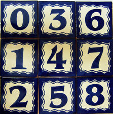 Mexican House Number Talavera Tile Home Address Tiles  BLUE