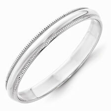 Solid 10k White or Yellow Gold Milgrain 3-6MM Wide Sizes 4-14 Wedding Band Ring