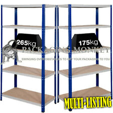 BAYS OF HEAVY DUTY INDUSTRIAL WAREHOUSE STORAGE SHELVING RACKING 875KG 1325KG