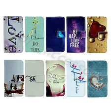 For Samsung Delicate Design Beautiful PU Leather Card Stand Case Cover Skin #A01