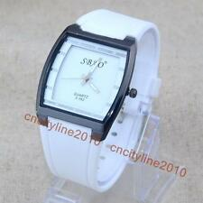High Quality SBAO Tonneau Dial Silicone Men Jelly Analog Quartz Dress Watches