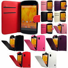 Flip Pu Leather Flip Case Wallet Cover For The LG Google Nexus 4 E960