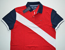 NEW Men's Tommy Hilfiger Short-Sleeve Polo Shirt, Red, Blue, White M, L, XL, 2XL