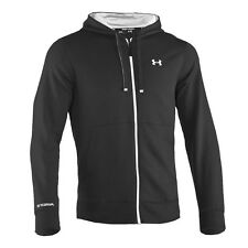 Under Armour Herren Cotton Storm Rival Full Zip Hoody schwarz / weiß