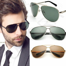 2016 Classic Mens Aviator Polarized Sunglasses Mens Retro Pilot Sunglasses