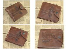 Mens Leather Wallet Pockets Card Clutch Purse  Money Clip Credit Cad Holder EY