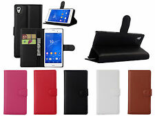 For Sony Xperia Z4 Luxury Smart PU Leather Flip Wallet Stand Hard Case Cover