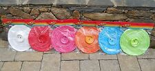 """ASSORTED COLORS 10"""" Round CHINESE PAPER LANTERNS Battery Operated Lighting LED"""