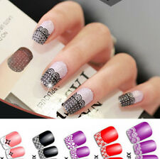 Lace Transfer 3D Pattern Nail Art Stickers Manicure Nail Polish Decals Tips Deco