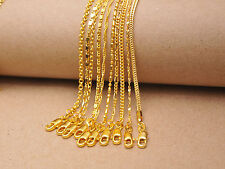 10Kinds Chains 18K Yellow Gold Filled GF Necklace For Pendant 18KGF Stamped