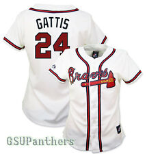 2014 Evan Gattis Atlanta Braves Home (White) Replica Jersey Women's