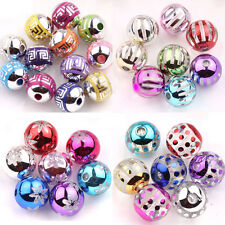 Lots 10/50Pc Nice Mixed Color Acrylic Round Spacer Loose Beads Bracelet Necklace