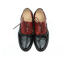 11 Color US Size 5-9 Contract Leather Formal Dress Oxfords Womens Wing Tip Shoes