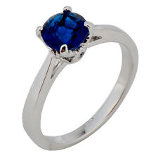 Jewelry Rings Size 6/7/8/9/10 Blue Sapphire Lady's 10Kt  White Gold Filled Gift