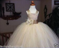 Flower Girl Dress Blush Color Tutu Dress Wedding Bridesmaid Party Dress