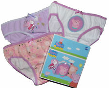 Girls Peppa Pig 3 Pants Knickers Boxed Set 100% Cotton 2-3 4-5 6-8Y