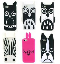 Cartoon Zebra Owl Dog Marc Jacobs case silicon for iPhone 4 4S iPhone 5 5S J