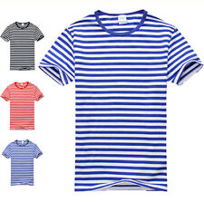 Fashion Stylish Men's Women's Casual Shirts Slim Fit Sailor's Striped T-Shirt