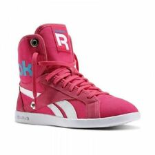 Reebok Classic Top Down Snaps Women's Canvas Trainers Hi Top High Fold Down Pink