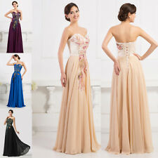 CHEAP Peacock Long Prom Dress Ball Gown Wedding Evening Party Bridesmaid Dresses