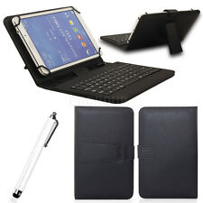 """7"""" Leather Stand Case Cover Micro USB Keyboard For 7"""" Android Tablet PC eReader"""