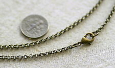 Bronze / Sterling Silver Plated Brass 2.5mm Rolo Chain Necklace Rollo cn100 PICK