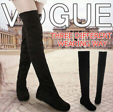 New fashion boots shoes over the knee thigh high suede long boots