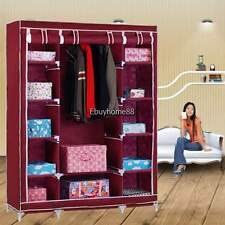 New Portable Home Wardrobe Storage Hanger Closet Organizer Shoe Rack 7 Colors
