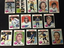 1975-76 OPC ST.LOUIS BLUES Select from LIST SEE SCAN HOCKEY CARDS O-PEE-CHEE