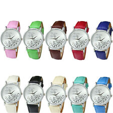 New Women Leather Watch Who Cares I am Late Anyway Letter Quartz Watches Trendy