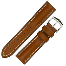 Hirsch HEAVY CALF Waterproof Calf Leather Watch Strap and Buckle in GOLD BROWN