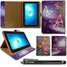 """Printed Universal Multi Angle Wallet Case Cover for 10.1"""" inch Tablet + Stylus"""