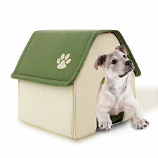 Dog House Pet Igloo Cat Cave Bed Soft Warm Mat Puppy Kennel Indoor Removable Pad